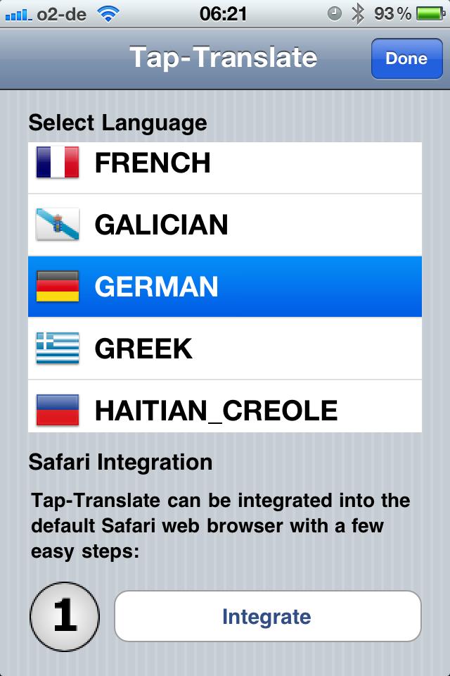 Seite übersetzen Safari