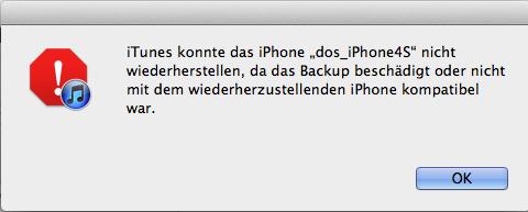 iphone 5 wiederherstellen funktioniert nicht