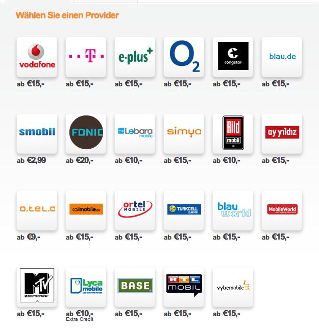 prepaid aufladen mit paypal