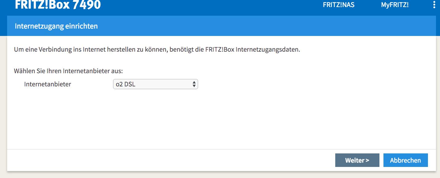 Fritzbox Datenübernahme In Eine Neue Provider O2 Fritzbox