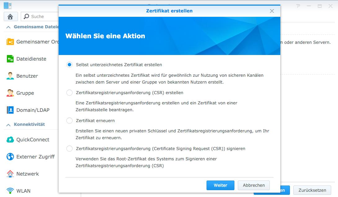 Synology NAS – SSL-Zertifikat generieren für Sicheren Zugriff von ...