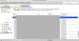 Zertifikate macOS 10.12