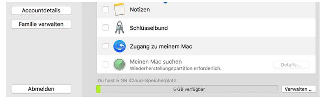 Wiederherstellungspartition Mac